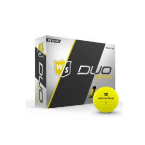 Wilson Duo Optix Golf Ball x12 (Yellow)